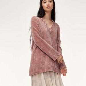 Wilfred Navy Violetta Cozy V-Neck Chenille Sweater